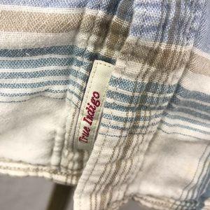 Lucky Brand Shirts - Lucky Brand true indigo soft plaid button front